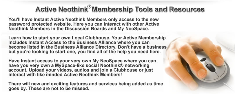Mark Hamilton - Active Neothink Membership Tools and Resources